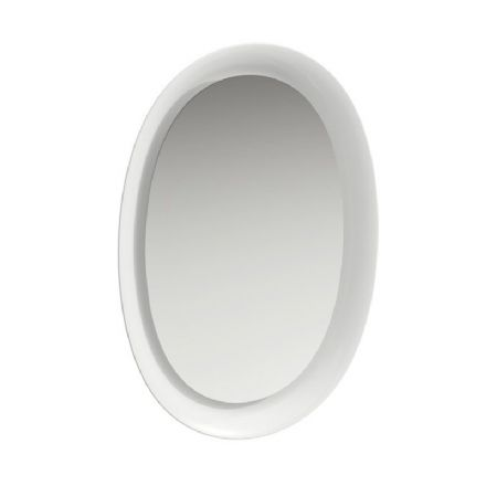 406070 - Laufen The New Classic 500mm x 700mm Ceramic Mirror with Light - 4.0607.0